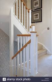 Banister Newel Traditional Timber Staircase And Banisters In A New Three Storey