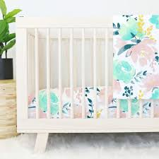 floral crib bedding baby flower bedding caden lane