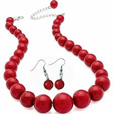 fashion jewelry red necklace images Red necklaces amazon co uk jpg