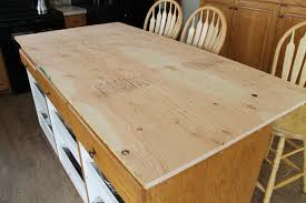 How To Build A Kitchen Island Table by Diy Faux Soapstone Countertop Chris Loves Julia