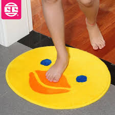 Yellow Duck Bath Rug 50 52cm Bath Mat For Children Plush Lovely Big Yellow Duck