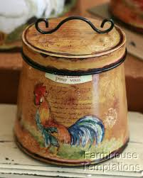 cottage rooster canister set shabby french country chic tin tuscan cottage rooster canister set shabby french country chic tin tuscan kitchen decor 4 41 99 4 of 4 see more