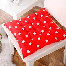 coussins de chaises de cuisine souple home office coton polka dot siège coussin fesses coussins de