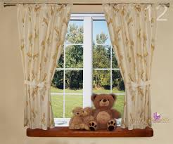 luxury baby room window curtains in matching pattern for nursery