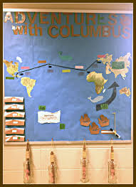 thanksgiving day bulletin board ideas literary showcase adventures with columbus bulletin board