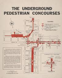 Philadelphia Pa Map Philadelphia Rapid Transit Company The Underground Pedestrian