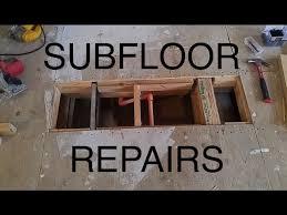 how to cut through subfloor diy damaged plywood subfloor repair patch