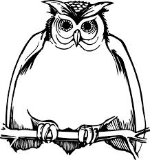 owl black clipart 74