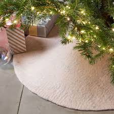 tree skirts felt metallic thread tree skirt blush west elm