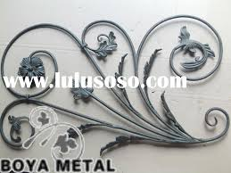wrought iron scrolls rosettes forged panels for sale price