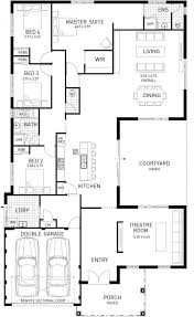 single story 4 bedroom house plans home architecture this layout with rooms single story