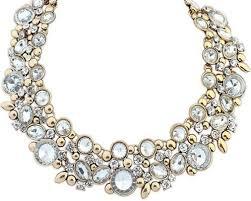 chunky crystal bib necklace images Fashion charm chunky crystal statement bib chain choker pendant jpg