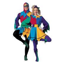Jester Halloween Costumes Women Jester Deluxe Costume