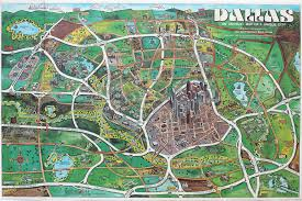 Dallas Area Map Dallas An Unusual Map Of A Unique City 1985 Dallas