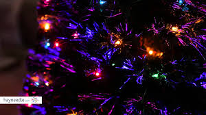6 ft fiber optic evergreen pre lit led tree lights demo