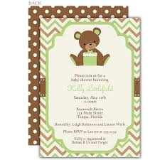 teddy baby shower chevron teddy baby shower invitation the invite