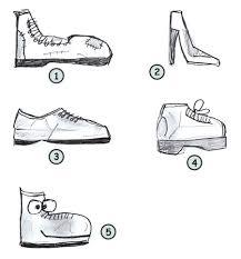 drawing cartoon shoes