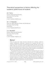 conceptual framework sample thesis theoretical perspectives on factors affecting the academic theoretical perspectives on factors affecting the academic performance of students pdf download available