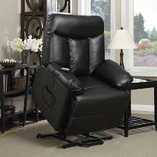 Leather Electric Recliner Chair Amazon Com Prolounger Lya Black Renu Leather Power Recline And