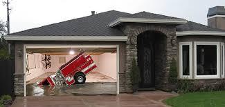 custom home garage sinking firetruck garage door screen my screen design