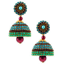 fancy jhumka earrings fancy chain handcrafted jhumka online shopping india