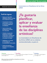 guia de la universidad veracruzana 2017 nueva licenciatura en enseñanza de las artes en veracruz poza