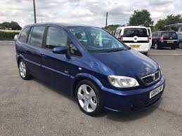vauxhall zafira 2 0 dti sri 7 seats blue 2004 in maidstone