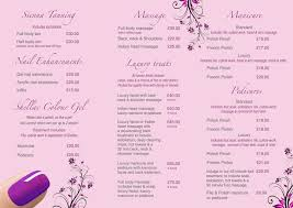 beauty price list template virtren com