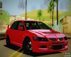 mitsubishi evo 8 red mitsubishi lancer evo viii mr 2004 for gta san andreas