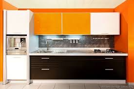Pictures Of Kitchens Modern Black Kitchen Cabinets - Orange kitchen cabinets