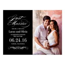 wedding announcements just married wedding announcements black white zazzle