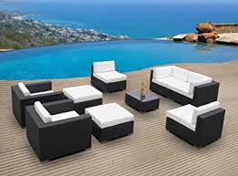 Outdoor Furniture Wicker Resin by Amazon Com Outdoor Patio Furniture Wicker Sofa Sectional 9pc