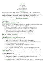 Customer Service Resume Template Word Job Resume 56 Customer Service Resume Objective Download List Of