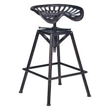 Adjustable Bar Stools Chapman Saddle Seat Counter Stool Black Brushed Silver Hayneedle
