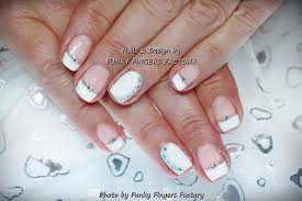 gelish wedding french manicure funky fingers factory