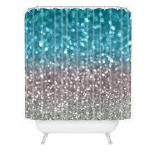 Gray And Teal Shower Curtain Lisa Argyropoulos Aqua And Gray Shower Curtain Deny Designs