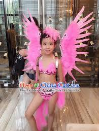 kids samba grade professional performance catwalks costume and wings