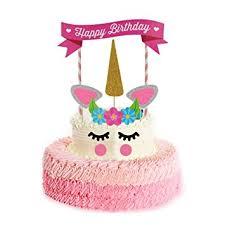 unicorn cake topper rocita unicorn birthday cake topper set of 11 decor for birthday