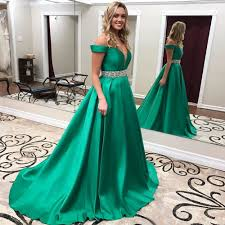 aliexpress com buy emerald green prom dresses long 2017 satin