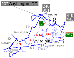 Williamsburg Virginia Map by List Of Virginia Area Codes Wikipedia