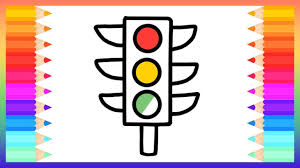 how to draw traffic lights for baby drawings and coloring book