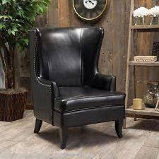 Leather Studded Armchair Leather Armchair Furniture Ebay