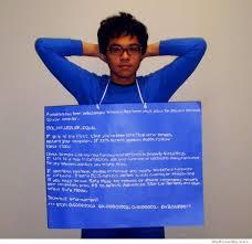 We Know Memes - windows error message blue screen of death halloween costume via