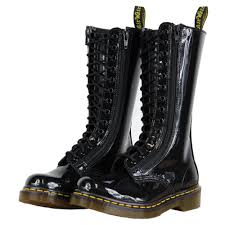 buy womens motorcycle boots dr martens 9733w 11852002 womens mid calf boots black patent