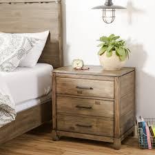 bedroom stylish attractive wood black mirrored nightstand target