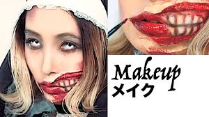 slit mouth zombie nun scary makeup tutorial for halloween by marin