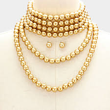 gold pearl necklace sets images Expressions jewelry accessories blog archive gold pearl draped jpg