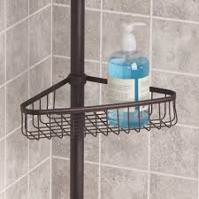 Interdesign Bathroom Accessories Interdesign York Bathroom Constant Tension Corner Shower Caddy For