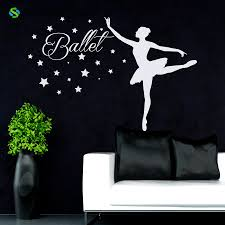 Wall Art Home Decor Online Get Cheap Ballerina Wall Mural Aliexpress Com Alibaba Group