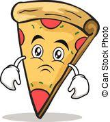 vector of zombie cartoon face with pizza slice vector design